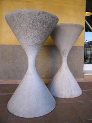 Willy Guhl garden planters  c. 1950 Made in Switzerland of Eternit Fiber cement. (2 available) Price: Upon request