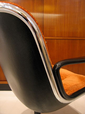 Knoll Pollock Executive Chair (1) Pollock Executive chair with rare pumpkin velour fabric from the late 60