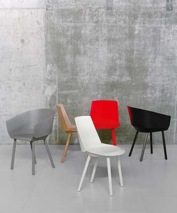 E15 Houdini Chairs Chairs designed by Stefan Diez for E15.  (4) Showroom expo pieces.  Other models and finishes available.   We offer the complete E15 collection. Please see our gallery collections section. Price: Upon Request