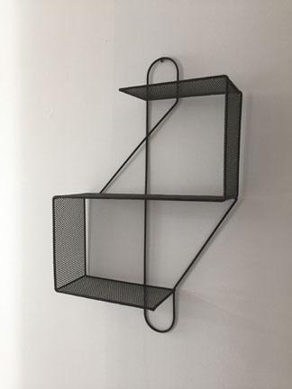 "Mathieu Mategot, c. 1950  Rare early Mathieu Mategot ""cle de sol"" shelf. p.o.a."